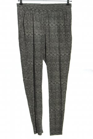 H&M Harem Pants black-light grey allover print casual look