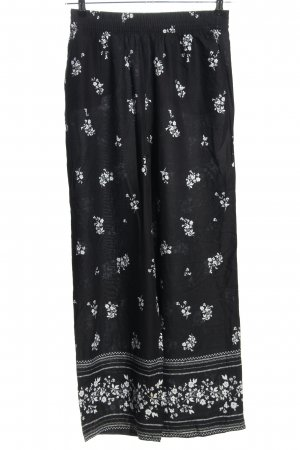 H&M Harem Pants black-white allover print casual look