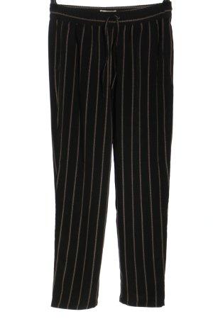 H&M Haremshose schwarz-braun Streifenmuster Casual-Look