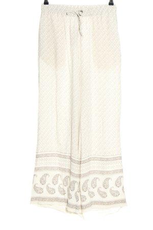 H&M Pantalone alla turca bianco-grigio chiaro stampa integrale stile casual