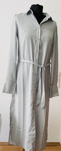 H&M hellgraues leichtes Hemdkleid Gr M