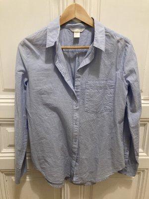 H&M Basic Chemise à manches longues bleu azur