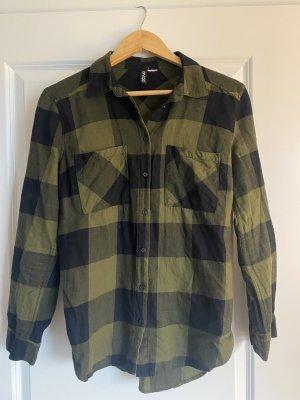 H&M Camicia da boscaiolo cachi-nero