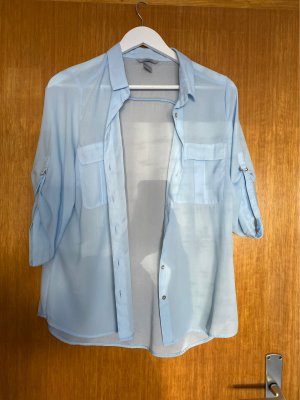 H&M Chemise à manches courtes bleu azur
