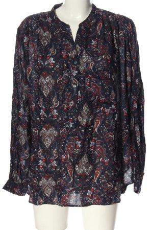 H&M Hemd-Bluse blau-rot abstraktes Muster Casual-Look