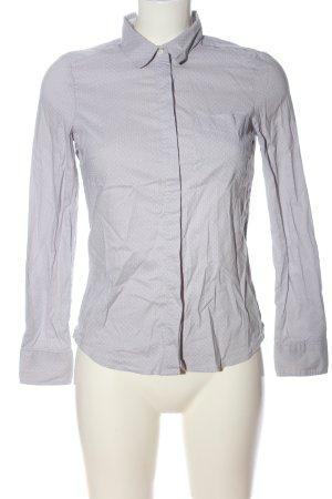 H&M Hemd-Bluse hellgrau-weiß Allover-Druck Casual-Look