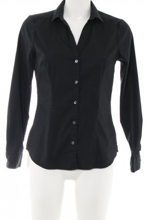 H&M Hemd-Bluse schwarz Business-Look