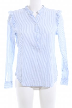 H&M Hemd-Bluse weiß-blau Streifenmuster Business-Look