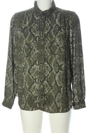 H&M Hemd-Bluse khaki Animalmuster Casual-Look