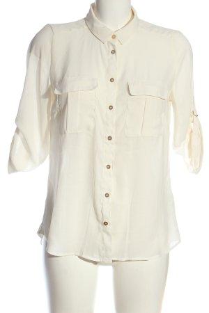 H&M Hemd-Bluse wollweiß Elegant