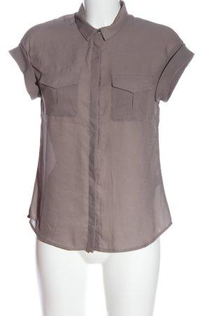H&M Hemd-Bluse hellgrau Business-Look