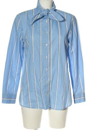 H&M Hemd-Bluse blau-weiß Allover-Druck Business-Look