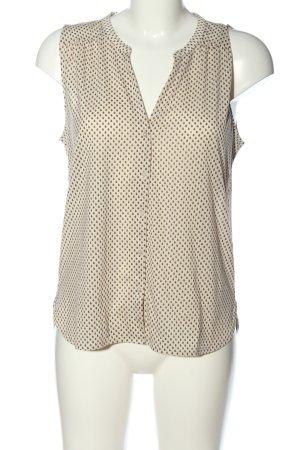 H&M Hemd-Bluse wollweiß-braun Allover-Druck Casual-Look