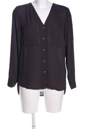 H&M Hemd-Bluse schwarz Business-Look