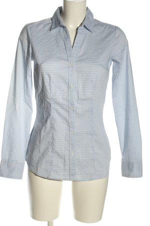 H&M Hemd-Bluse blau-schwarz Allover-Druck Casual-Look