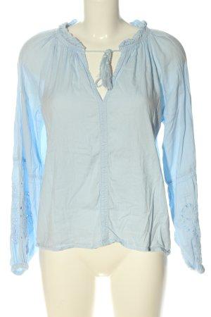 H&M Hemd-Bluse blau Casual-Look