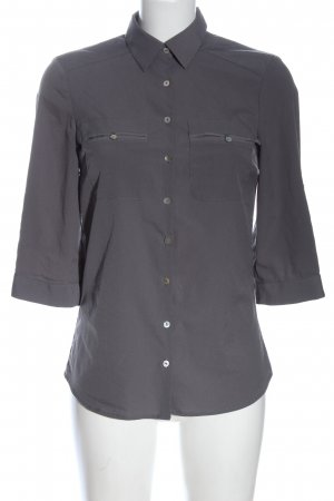 H&M Hemd-Bluse hellgrau Casual-Look