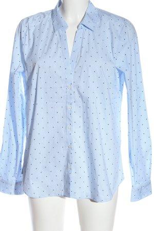 H&M Hemd-Bluse blau-schwarz Motivdruck Business-Look