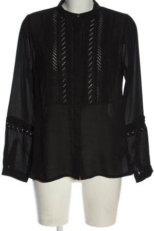 H&M Hemd-Bluse schwarz Elegant