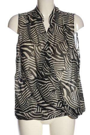 H&M Hemd-Bluse schwarz-weiß Animalmuster Casual-Look