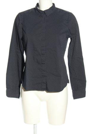 H&M Hemd-Bluse schwarz-weiß Punktemuster Business-Look