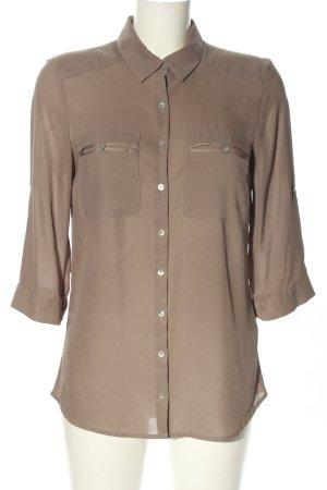 H&M Hemd-Bluse braun Casual-Look