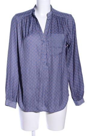 H&M Hemd-Bluse blau Allover-Druck Business-Look