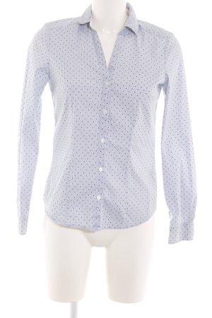 H&M Hemd-Bluse blau Punktemuster Business-Look