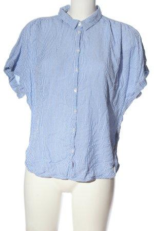 H&M Hemd-Bluse blau Streifenmuster Business-Look