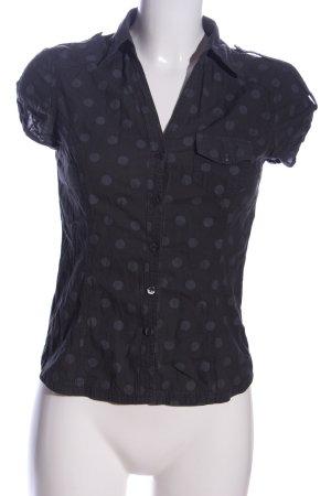 H&M Hemd-Bluse blau-hellgrau Allover-Druck Casual-Look