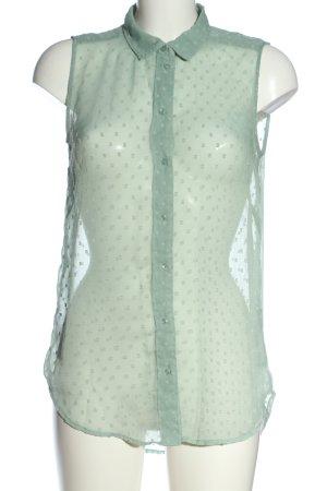 H&M Hemd-Bluse khaki Punktemuster Elegant