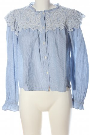 H&M Shirt Blouse blue-white striped pattern casual look