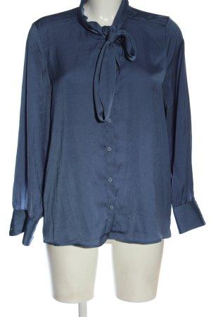 H&M Hemd-Bluse blau Business-Look