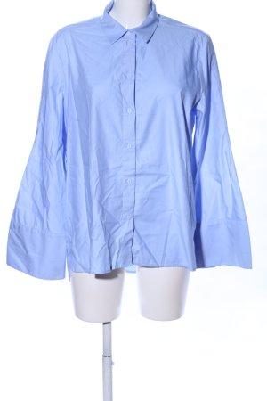 H&M Hemd Bluse weiß blau Streifenmuster Business Look