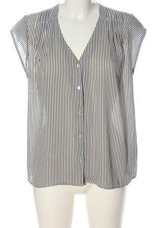 H&M Hemd-Bluse blau-wollweiß Streifenmuster Casual-Look