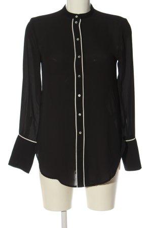 H&M Hemd-Bluse schwarz-weiß Elegant