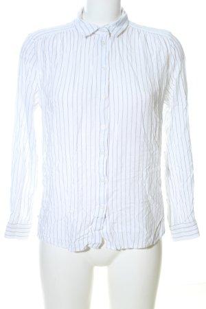 H&M Hemd-Bluse weiß-hellgrau Streifenmuster Business-Look