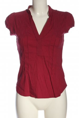 H&M Hemd-Bluse rot Streifenmuster Casual-Look
