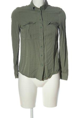 H&M Koszulowa bluzka khaki W stylu casual