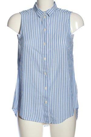 H&M Hemd-Bluse weiß-blau Streifenmuster Casual-Look