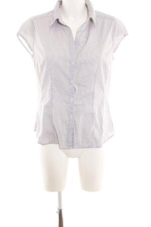 H&M Hemd-Bluse hellgrau-weiß Streifenmuster Business-Look