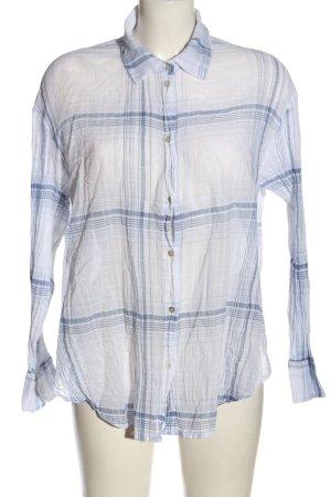 H&M Koszulowa bluzka biały-niebieski Na całej powierzchni W stylu casual