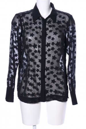 H&M Hemd-Bluse schwarz Motivdruck Casual-Look