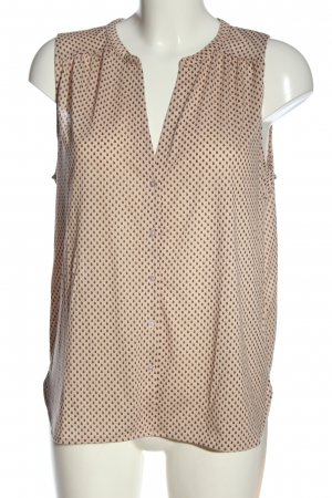 H&M Hemd-Bluse nude-schwarz Allover-Druck Casual-Look