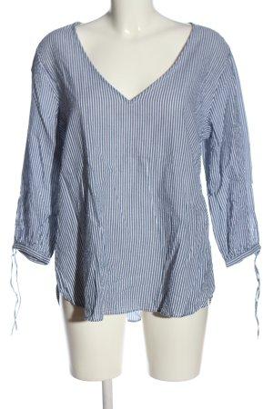 H&M Hemd-Bluse blau-weiß Streifenmuster Casual-Look