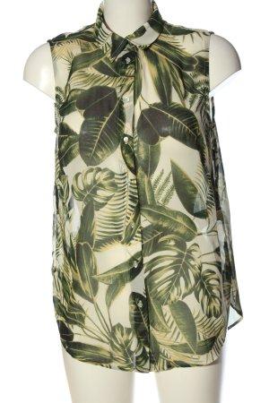 H&M Hemd-Bluse creme-khaki Allover-Druck Casual-Look