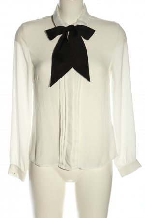 H&M Hemd-Bluse weiß-schwarz Business-Look
