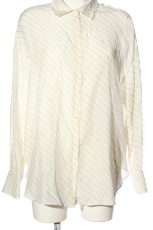 H&M Hemd-Bluse creme Streifenmuster Business-Look