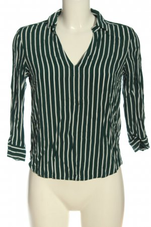 H&M Koszulowa bluzka zielony-biały Na całej powierzchni W stylu biznesowym
