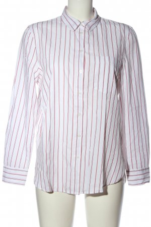 H&M Hemd-Bluse rot-weiß Allover-Druck Business-Look